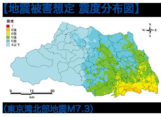 地震被害想定 震度分布図